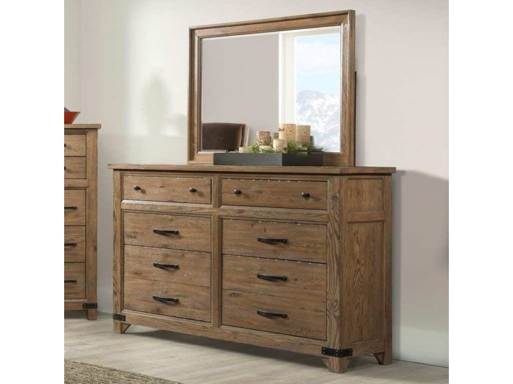 Broyhill Furniture Park Citydresser And Mirror Combo