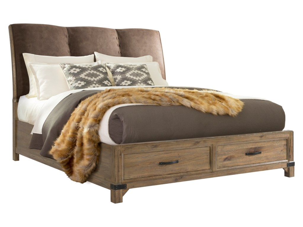 Broyhill Furniture Park CityKing Panel Storage Bed