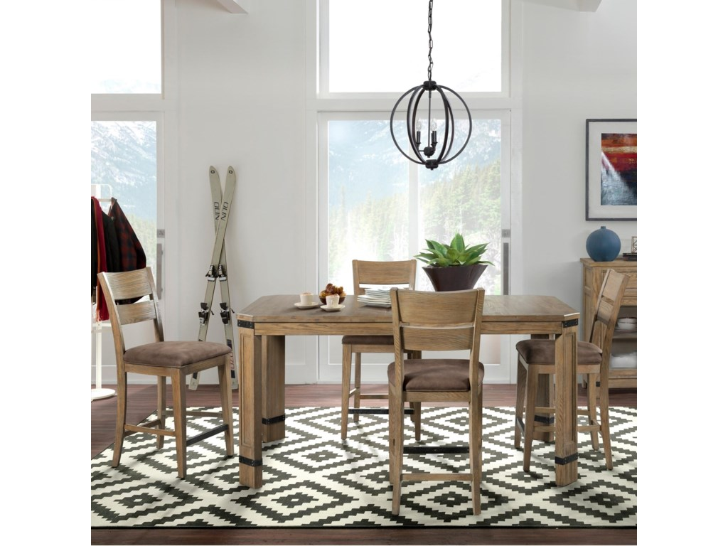Broyhill Furniture Park City5 Piece Table and Chair Set