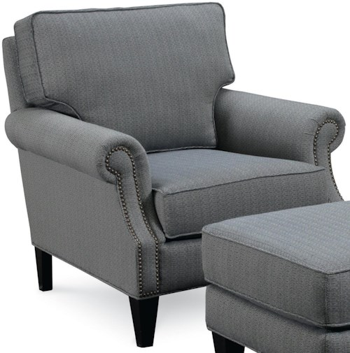 Broyhill Furniture Personalities Accent Chairs Nevis Accent Chair with Nailhead Trim