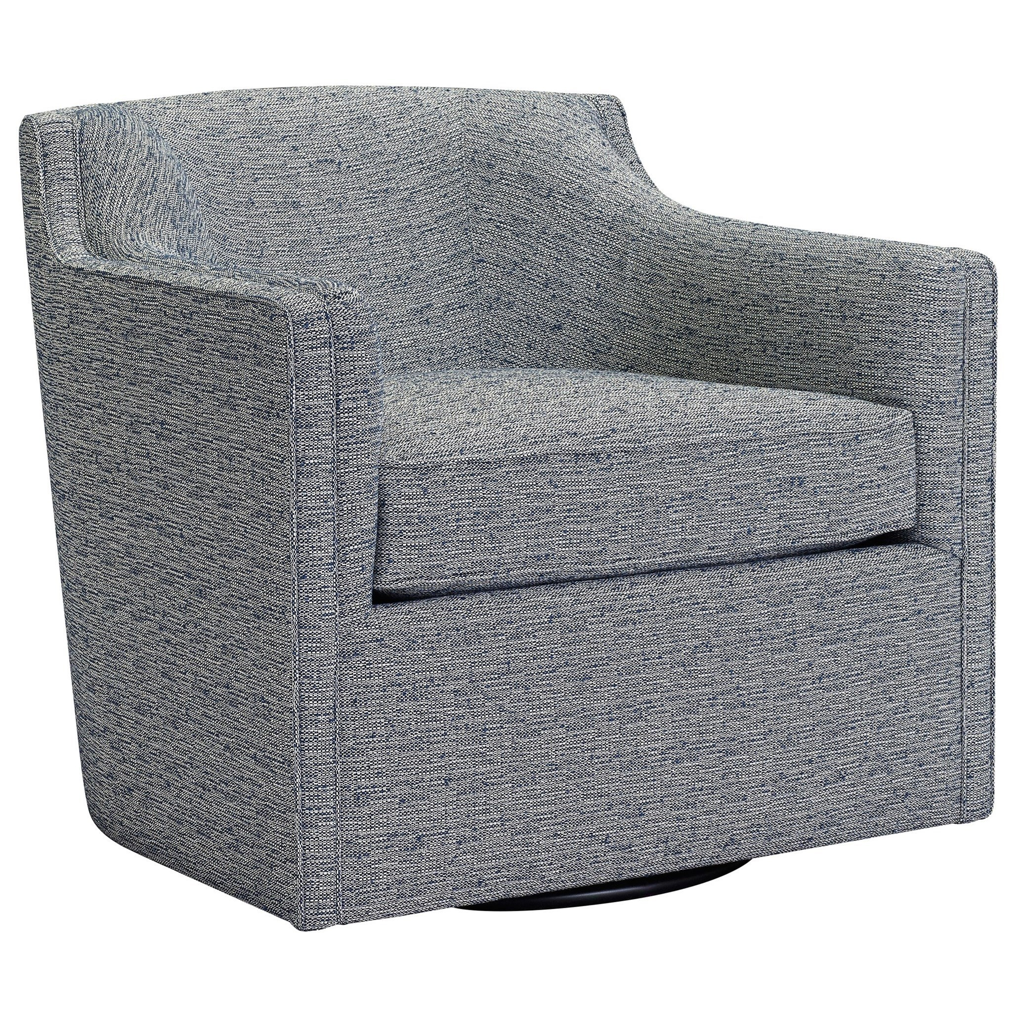 Personalities Accent Chairs Gayle Swivel Chair With Curved Barrel Back By  Broyhill Furniture