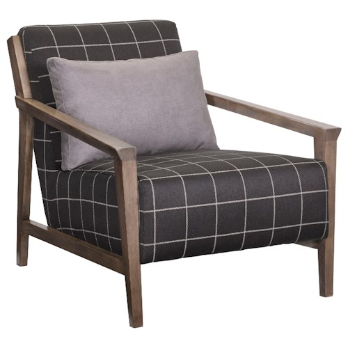 Broyhill Furniture Personalities Accent Chairs Pacey Chair with Exposed Wood Frame