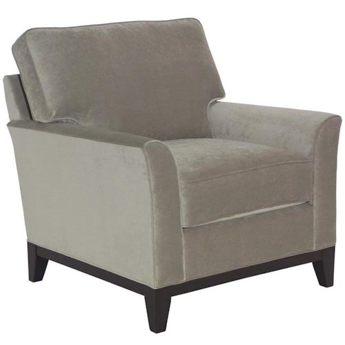 Broyhill Furniture Perspectives  Stationary Chair with Flare Tapered Arms