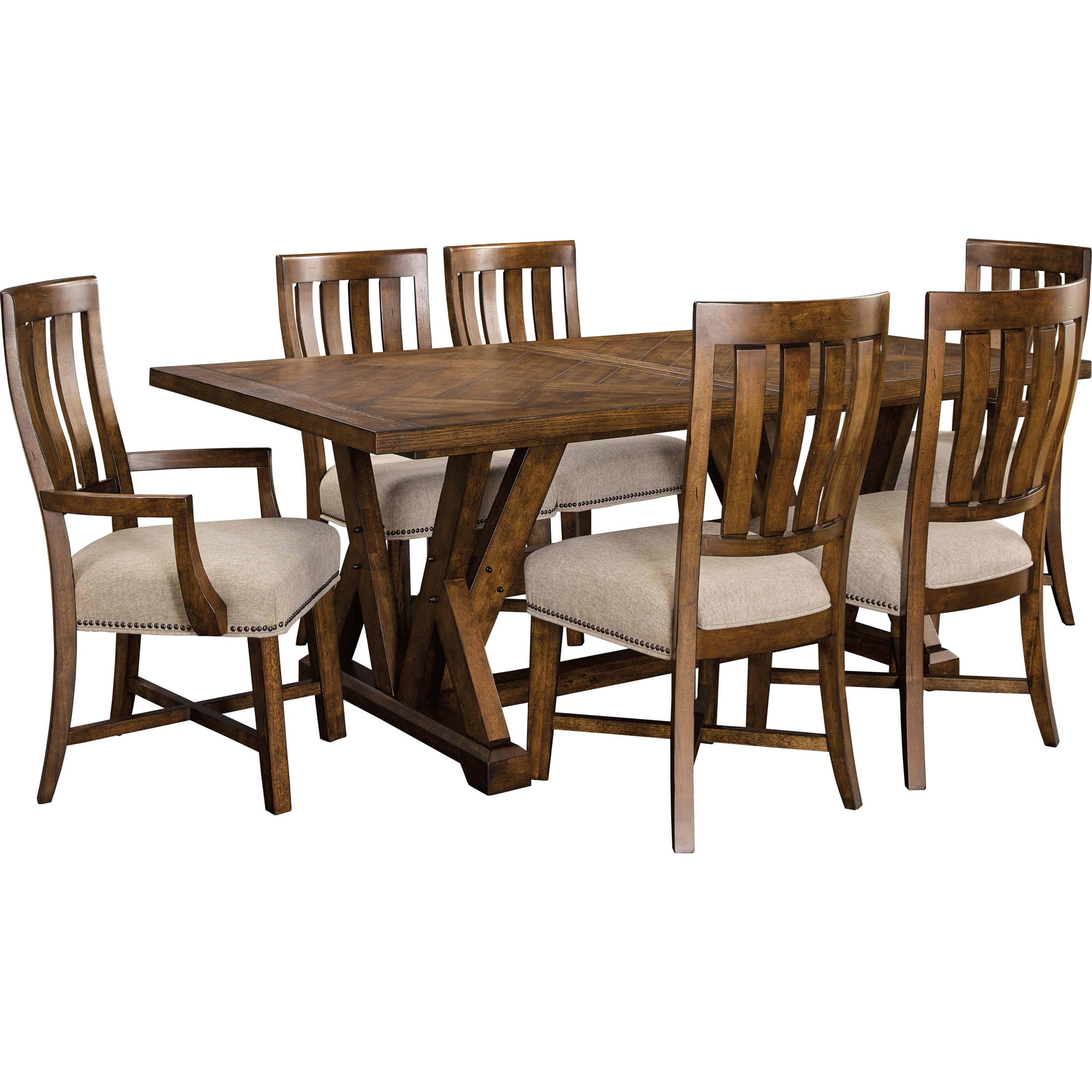 Broyhill Furniture Pieceworks7 Piece Table And Chair Set ...