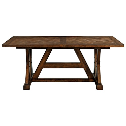 broyhill furniture pieceworks rectangular dining table with leaf - Dining Room Furniture Denver Co