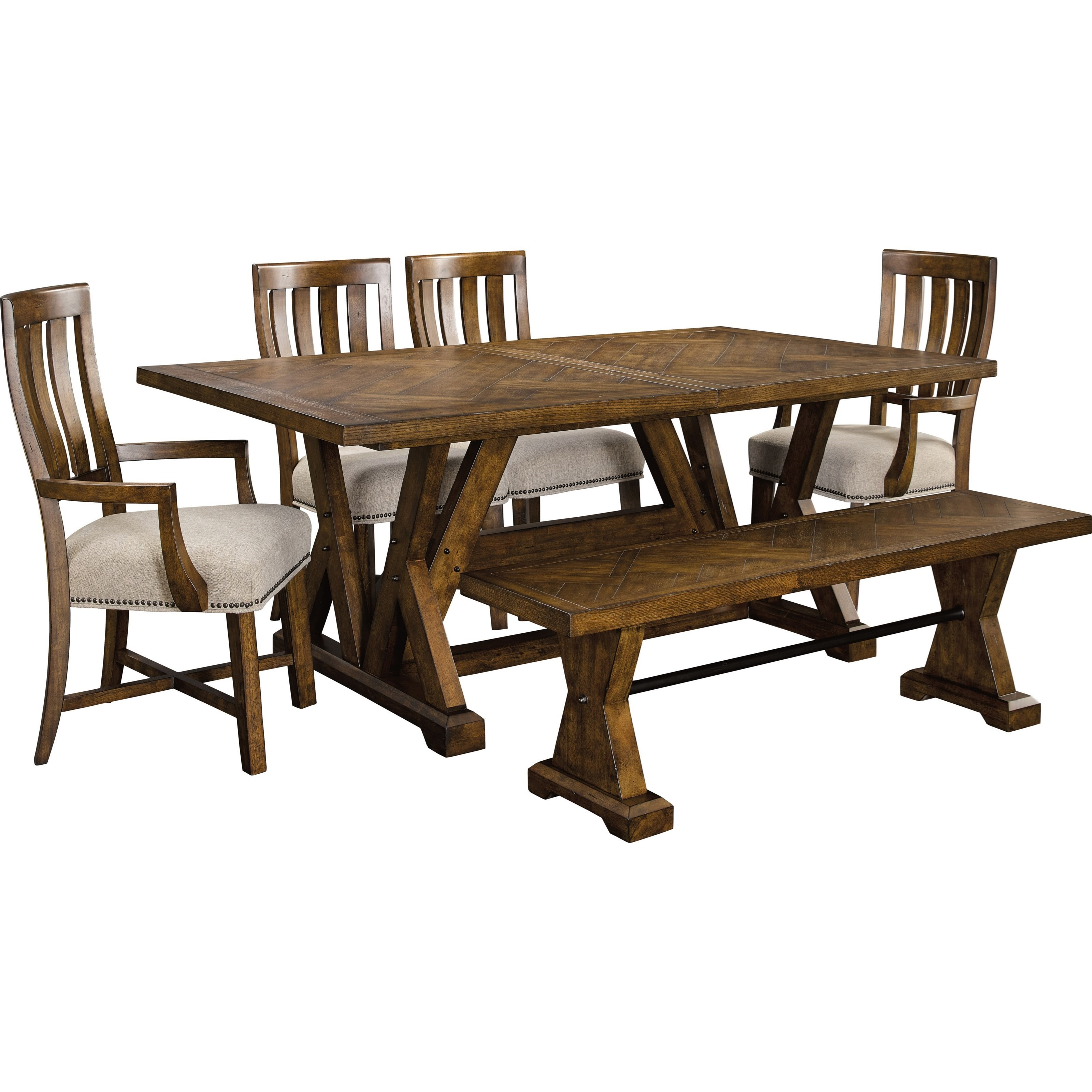 Shown With Leaf; Broyhill Furniture PieceworksRectangular Dining Table