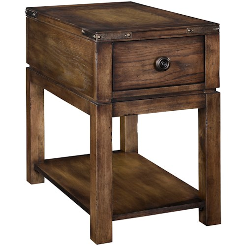 Broyhill Furniture Pike Place 1 Drawer Chairside Table With Strip Usb Charger