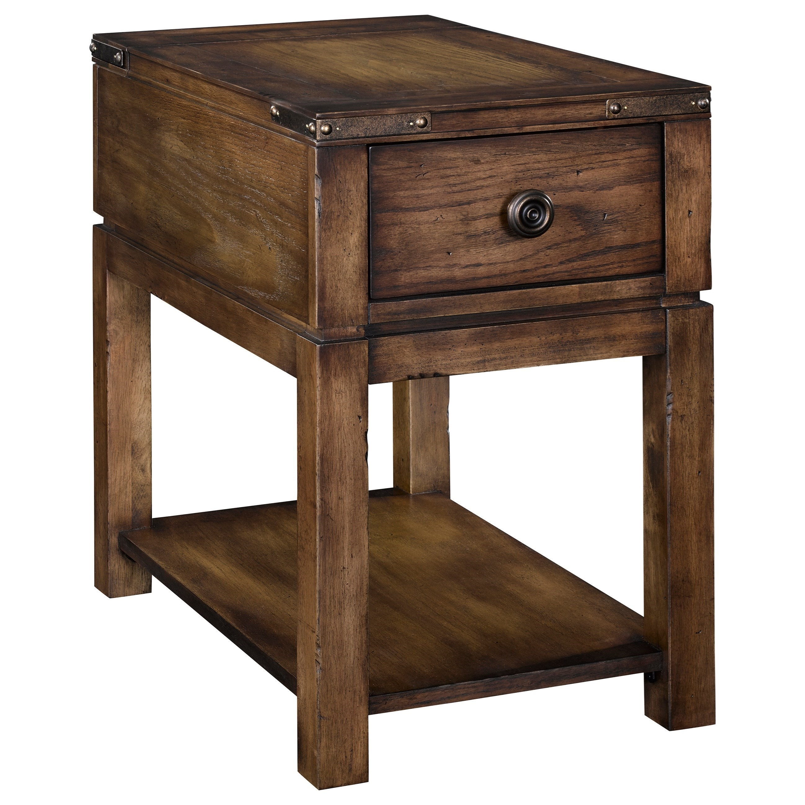 Broyhill Furniture Pike Place 1 Drawer Chairside Table With Power Strip/USB  Charger