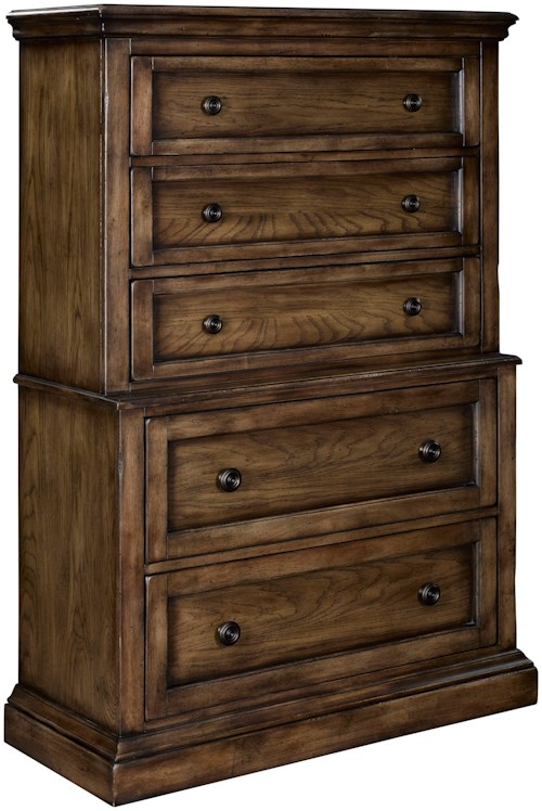 Broyhill Furniture Pike Place 5 Drawer Chest on Chest
