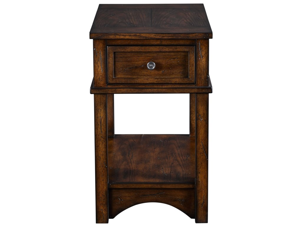 Broyhill Furniture ReclinermatesAttic Rustic Finished Accent Table