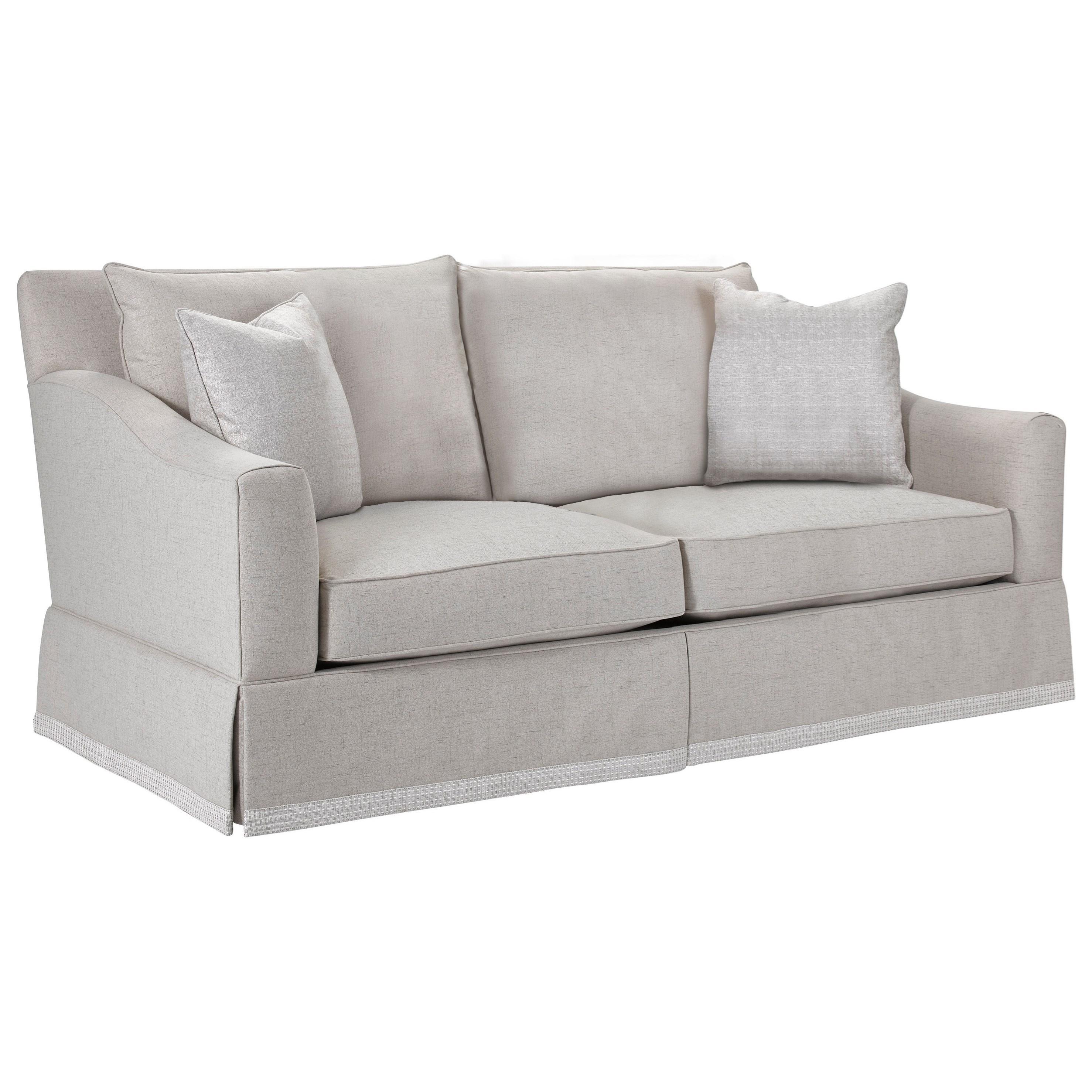Broyhill Furniture Regina Apartment Sofa With Decorative Border Skirt