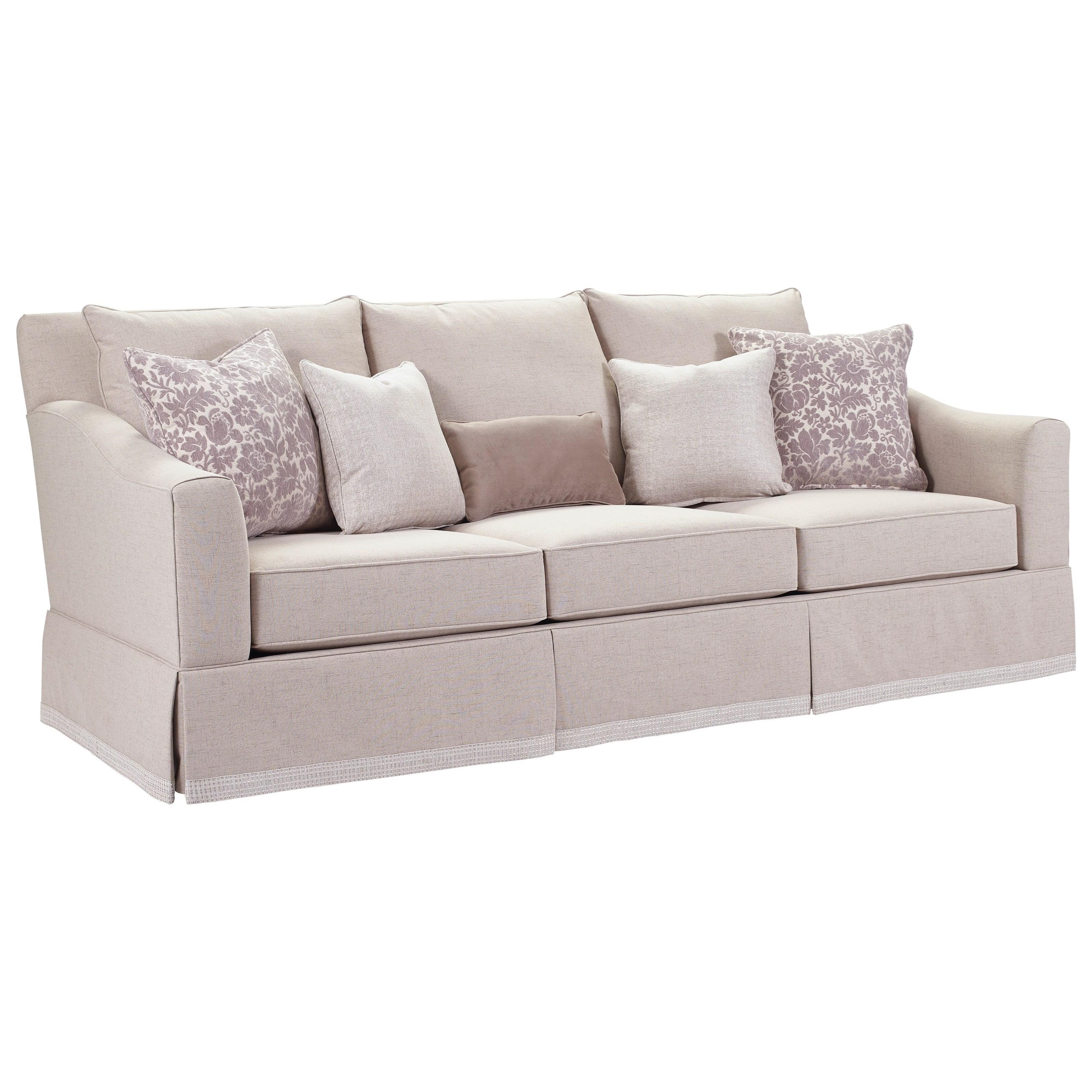 Broyhill Furniture Regina Sofa With Decorative Border Skirt