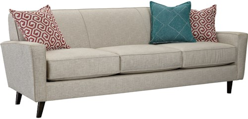 Broyhill Furniture Rhodes Contemporary Sofa with Track Arms