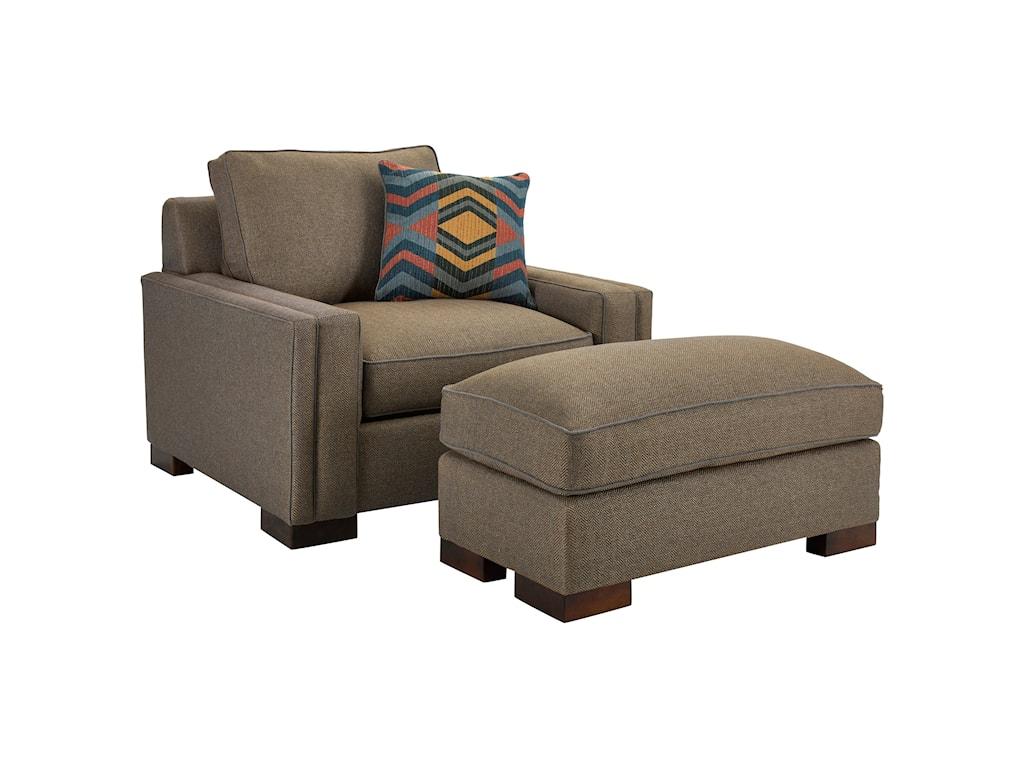 Broyhill Furniture RoccoChair & 1/2 and Ottoman