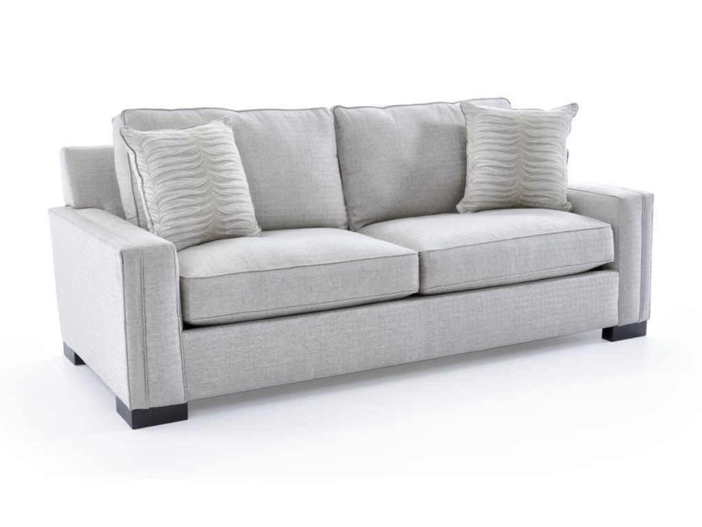 Broyhill Furniture Rocco Apartment Sofa With Sleek Track Arms - Broyhill conversation sofa leather