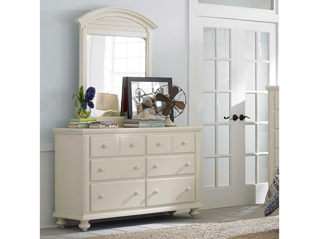 Broyhill Furniture Seabrooke 6 Drawer Dresser and Louver ...