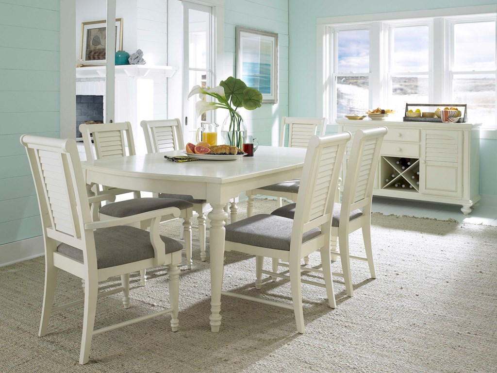 Shown with Turned Leg Dining Table, Buffet and Arm Chairs