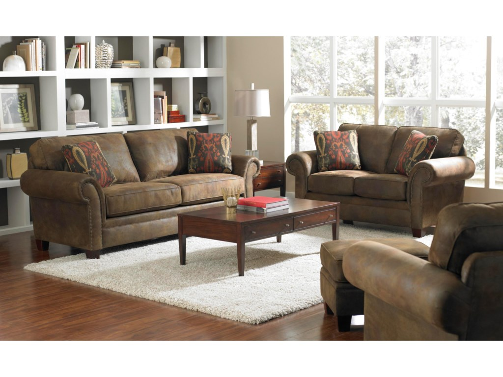 Shown with Loveseat, Ottoman, and Chair