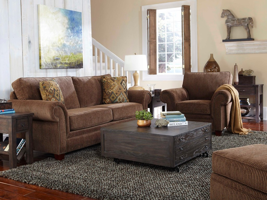 Broyhill Furniture TravisTransitional Queen Goodnight Sleeper Sofa