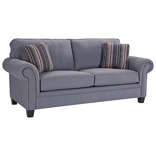 Broyhill Furniture Travis Transitional Queen Air Dream Sleeper Sofa