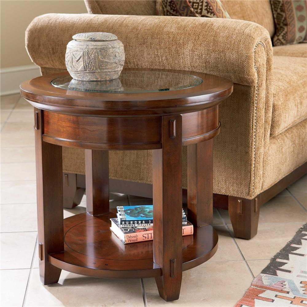 Picture of: Broyhill Furniture Vantana Round End Table Find Your Furniture End Tables