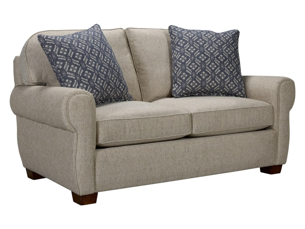 Broyhill Furniture Vedder Transitional Loveseat With Cigar Arm