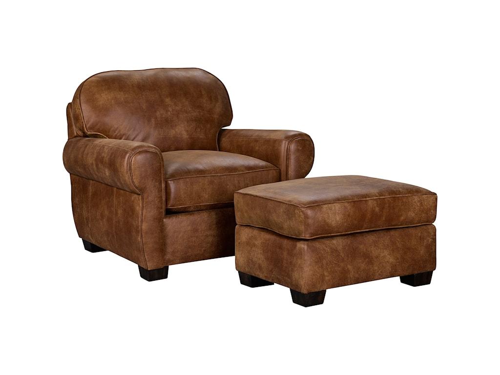 Broyhill Furniture VedderChair & Ottoman Set