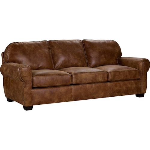 Broyhill Furniture Vedder Casual Sofa With Rounded Seat Back