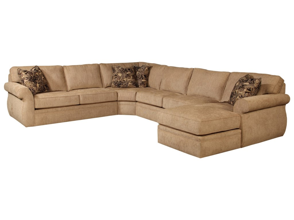 Broyhill Furniture Veronica Right Arm Facing Customizable Chaise Sectional Belfort Sofas