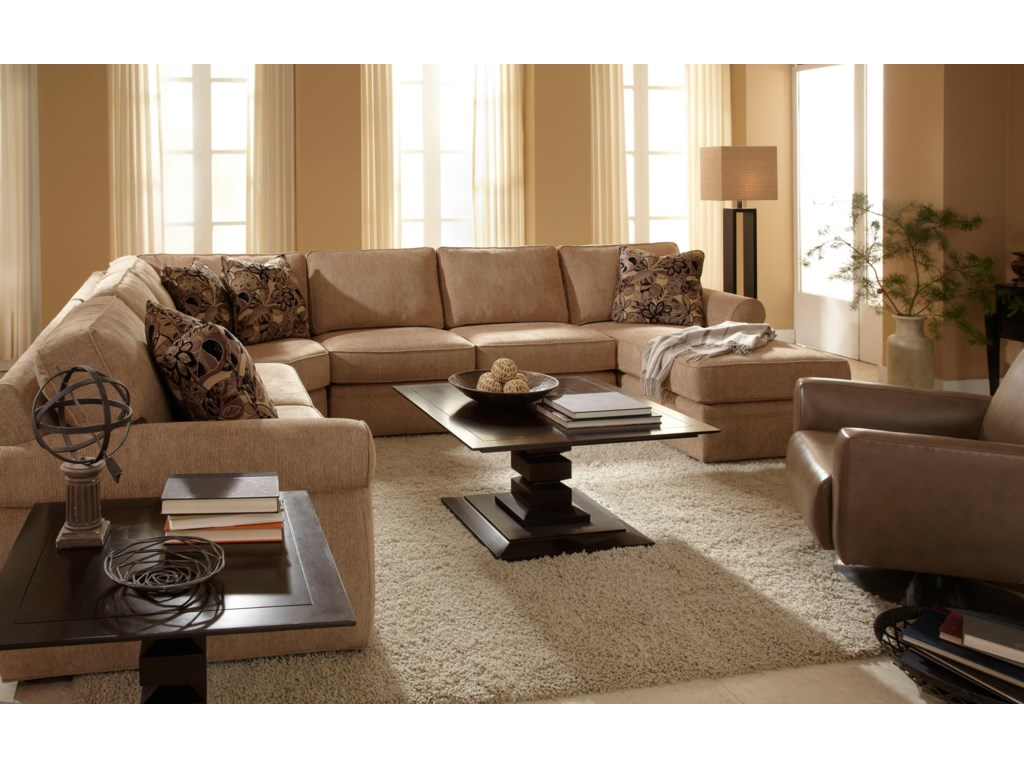 Broyhill Furniture VeronicaChaise Sectional with Sleeper