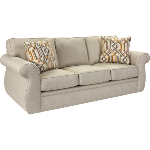 Broyhill Furniture Veronica Traditional Queen IREST Sleeper Sofa with Oversize Rolled Arms
