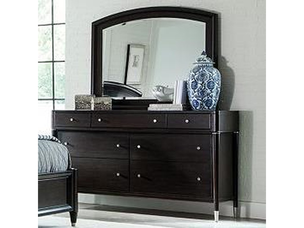 Broyhill Furniture VibeSeven Drawer Dresser and Mirror