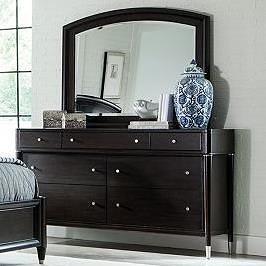 Broyhill Furniture Vibe Seven Drawer Dresser and Mirror