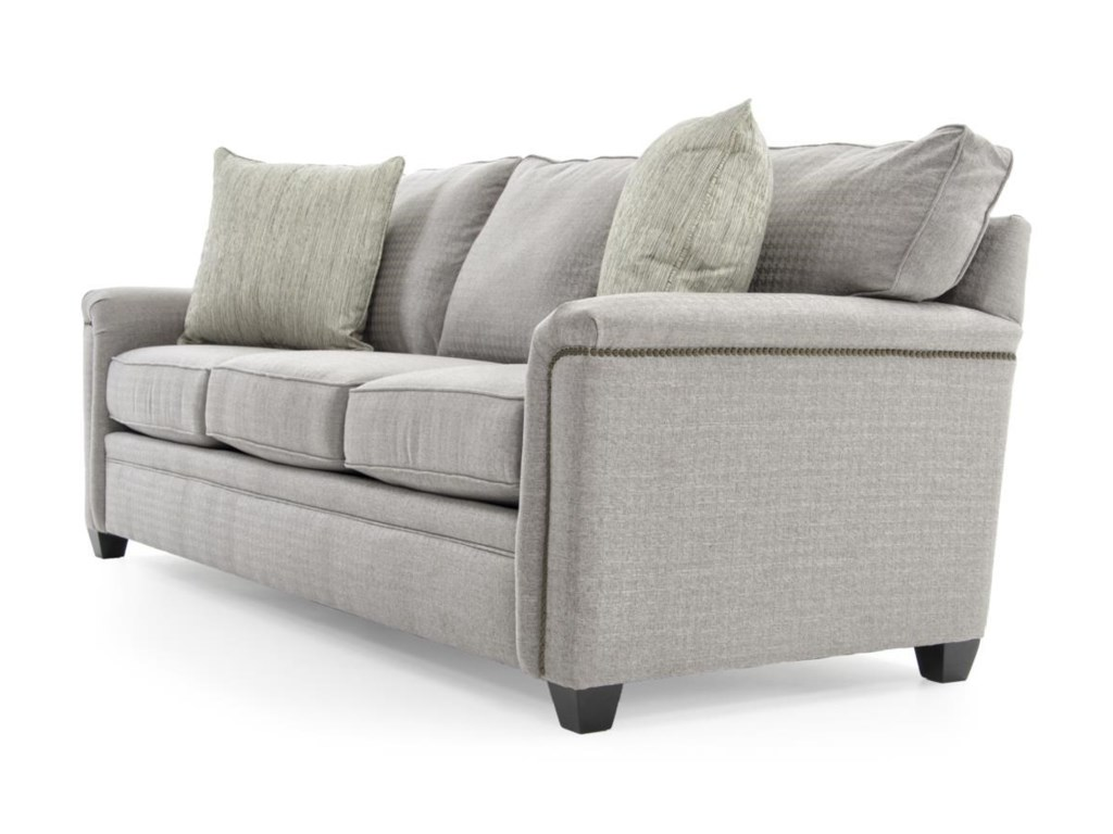 Broyhill Furniture Warren 4287-3 4697-93 Sofa with Nailhead Trim ...