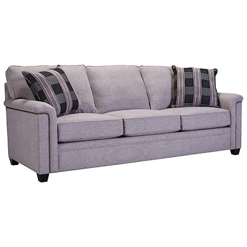 Broyhill Furniture Warren Sleeper Sofa With Nailhead Trim Accents And Goodnight Mattress