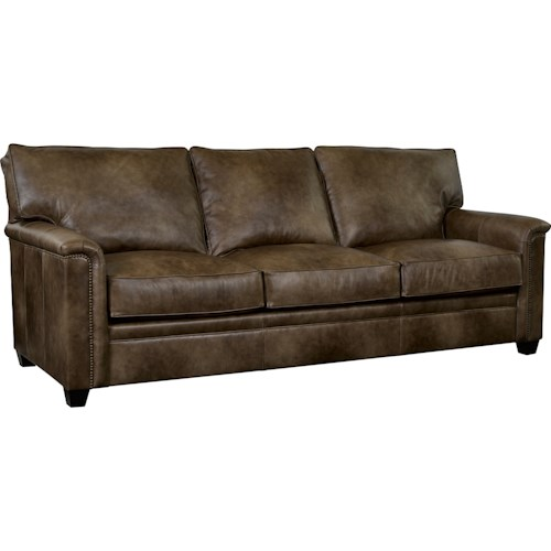 Broyhill Furniture Warren Sleeper Sofa With Nailhead Trim Accents And Air Dream Mattress