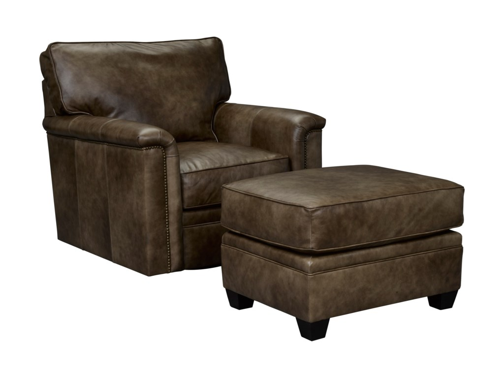 Broyhill Furniture WarrenSwivel Chair and Ottoman