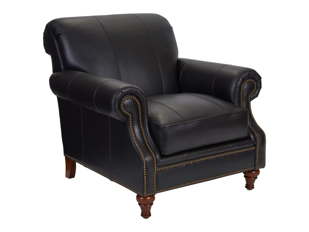 Broyhill Furniture WindsorChair and Ottoman Combination