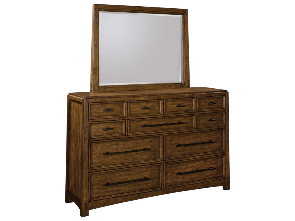 Broyhill Furniture Winslow Park Dresser and Mirror Combo
