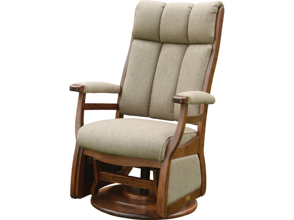 Buckeye Rockers Gliders Pairs Swivel Glider With Padded Arms
