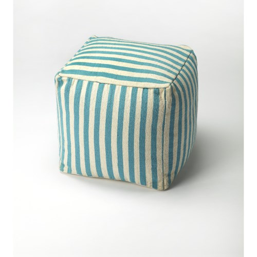 Butler Specialty Company Accent Seating Sanibel Blue Stripe Pouffe