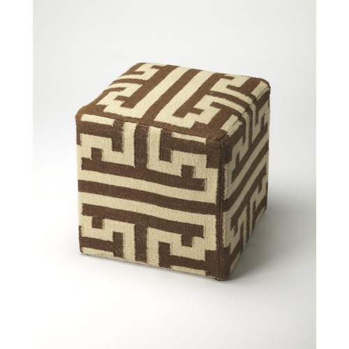 Butler Specialty Company Accent Seating Labyrinth Wool Pouffe