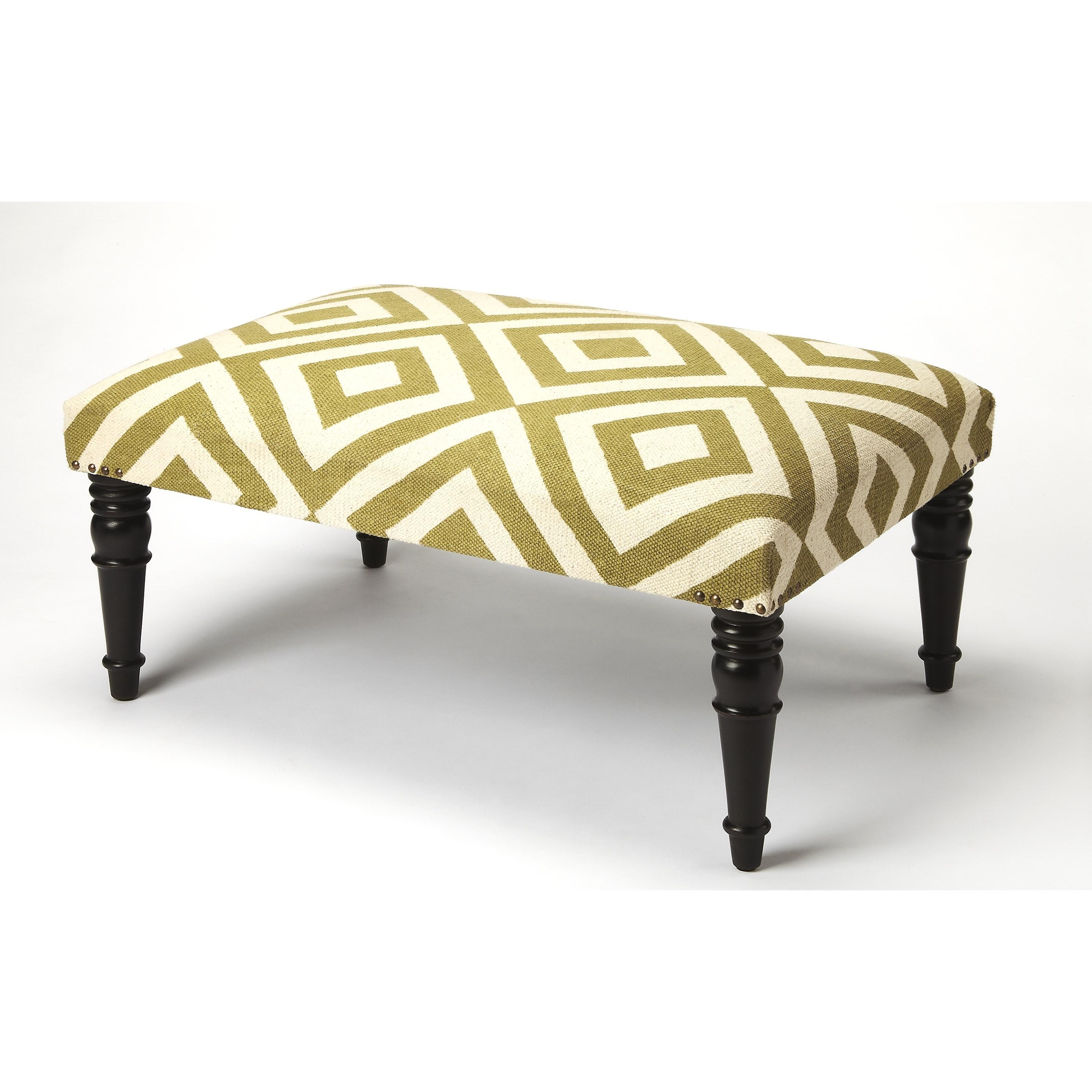 Lucinda Diamond Upholstered Cocktail Ottoman