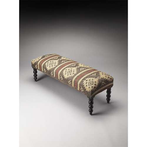 Butler Specialty Company Accent Seating Navajo Jute Upholstered Bench