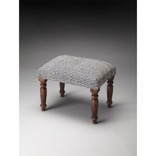Butler Specialty Company Accent Seating Manto Cotton Upholstered Stool