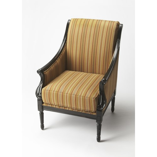 Butler Specialty Company Accent Seating BUTLER WEXFORD BLACK LICORICE ACCENT CHAIR