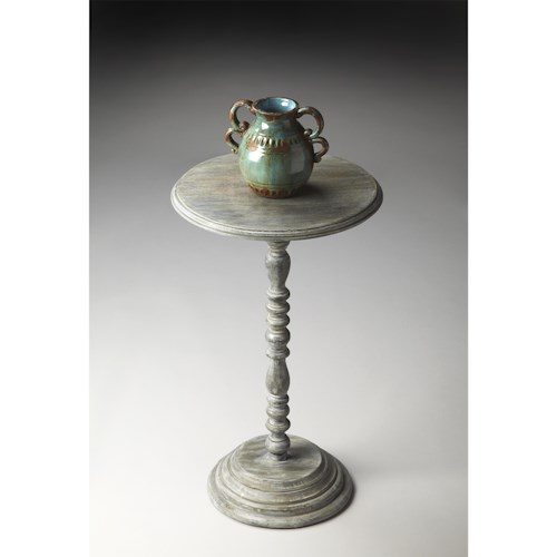 Butler Specialty Company Artifacts Pedestal Accent Table