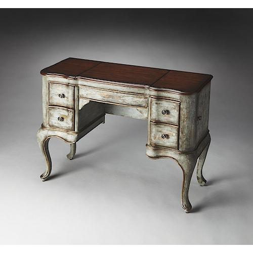 Butler Specialty Company Artist's Originals Charlotte Rustic Blue & Cherry Vanity
