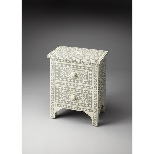Butler Specialty Company Bone Inlay Vivienne Grey Bone Inlay Accent Chest