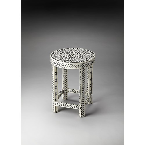 Butler Specialty Company Bone Inlay Bone Inlay Accent Table